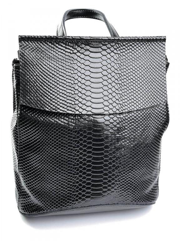 Жіноча сумка шкіряна кроко Case 8504-4 чорна