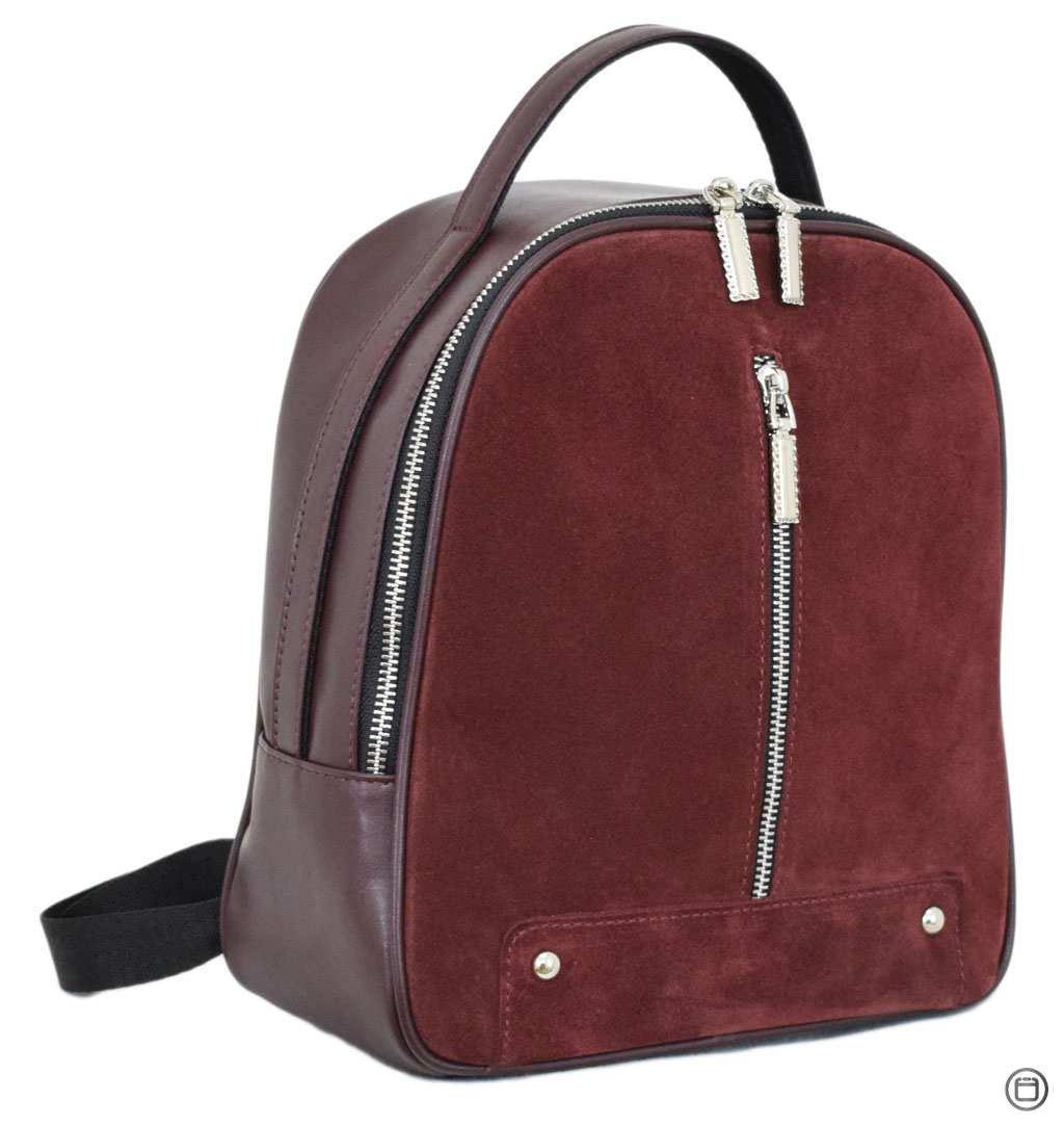 Жіночий рюкзак з позов-шкіри Case 643 замш бордо