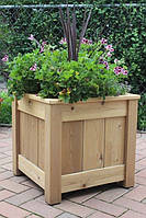 Вазон садовый из дерева для цветов