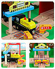 Железная дорога из дерева детская, EdWone, 80 деталей, 3+ (Brio, Ikea) E18A11, фото 2