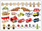 Железная дорога из дерева детская, EdWone, 80 деталей, 3+ (Brio, Ikea) E18A11, фото 4