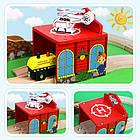 Железная дорога из дерева детская, EdWone, 80 деталей, 3+ (Brio, Ikea) E18A11, фото 7