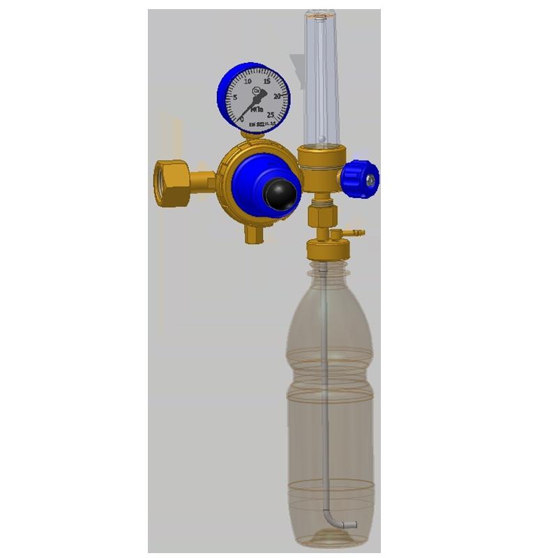 Кислородный редуктор с ротаметром увлажнителем и маска