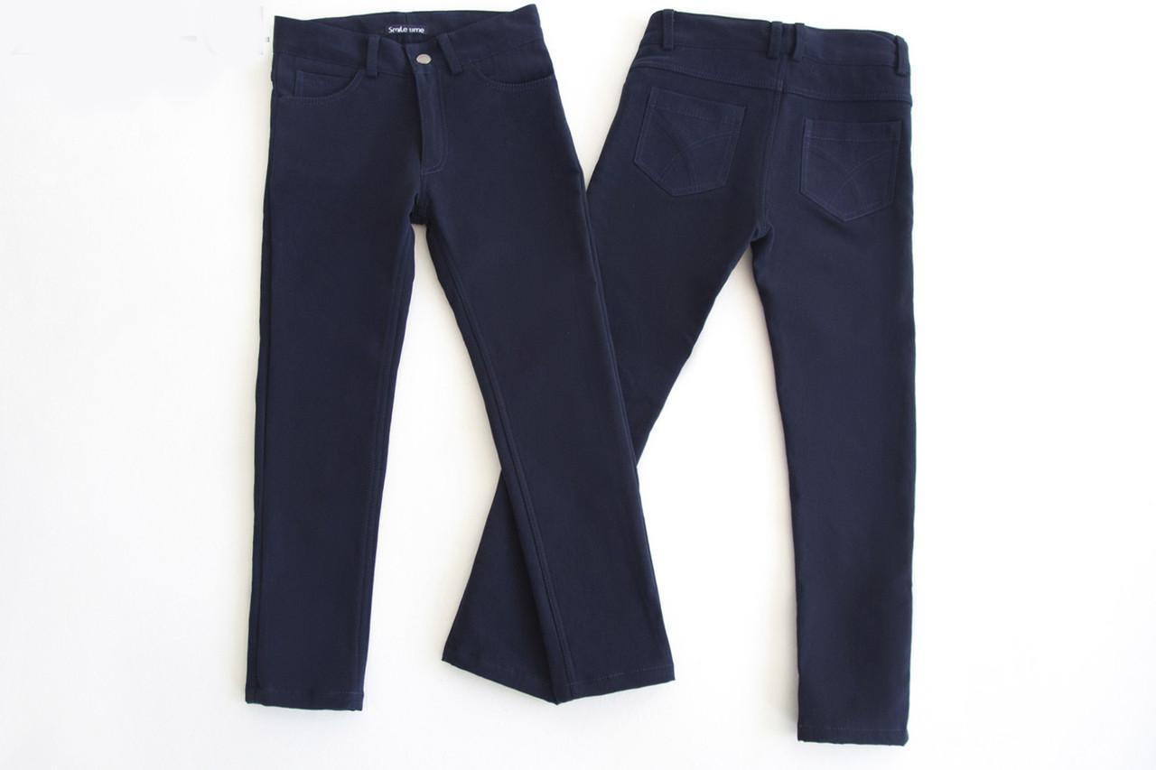 Брюки на флисе для мальчика р.152,158,164 SmileTime Warm Fashion, синие