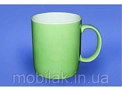 Чашка Офісна 0,350л Салатна 2 біла ТМ АВАНГАРД