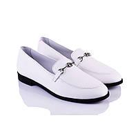 Кожаные женские туфли белые Marco Piero