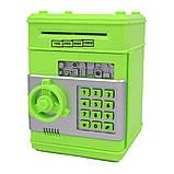 Детская электронная игрушечная копилка-сейф с замком, робот копилка для бумажных денег и монет, фото 3