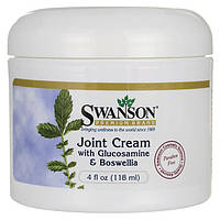Мазь с глюкозамином и босвелией, Swanson, Joint Cream with Glucosamine & Boswellia, 118 мл
