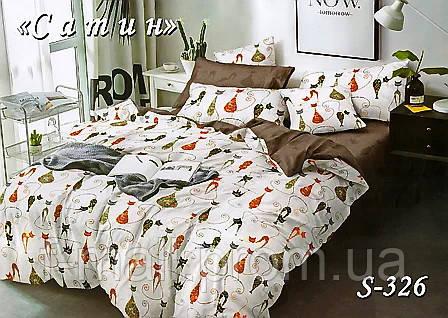 Комплект постельного белья Тет-А-Тет ( Украина ) Сатин евро (S-326)