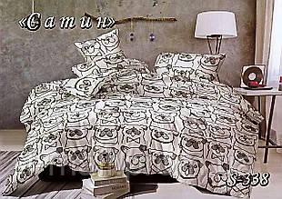 Комплект постельного белья Тет-А-Тет ( Украина ) Сатин евро (S-338)