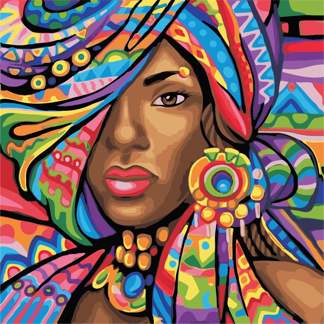 Картина по номерам ArtStory Африканка  40*40см