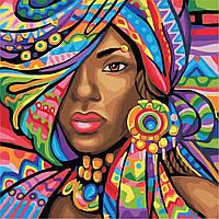 Картина по номерам ArtStory Африканка  40*40см, фото 1