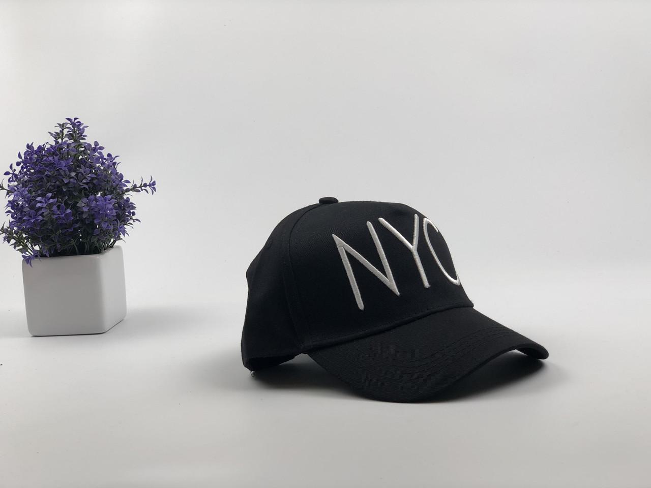 Кепка Бейсболка Мужская Женская City-A с надписью NYC Черная