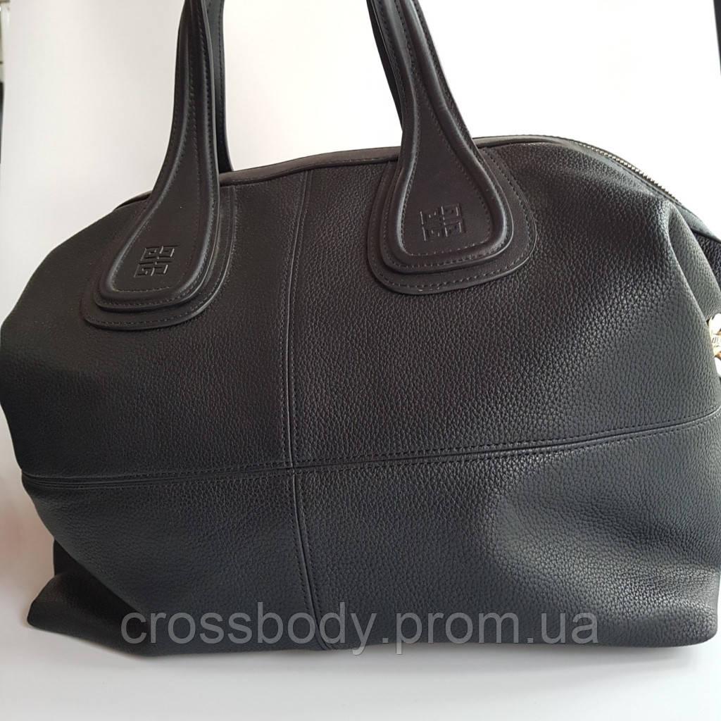 Большая сумка на две ручки черная