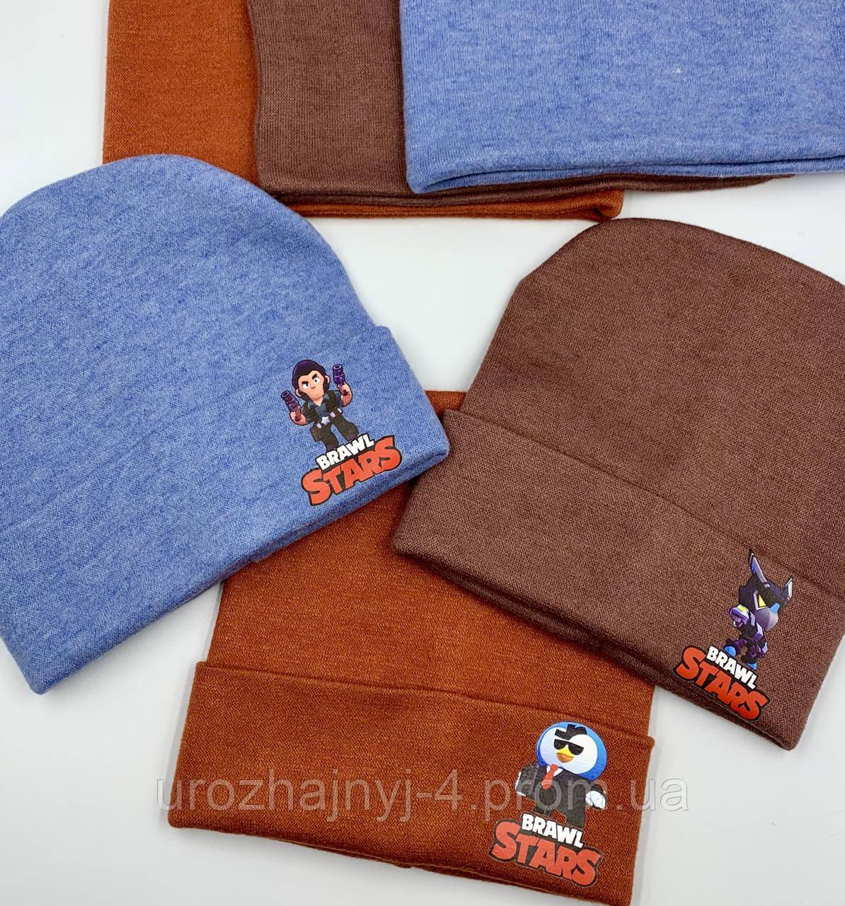 Ангорковый комплект шапка и хомут на флисе р52-54