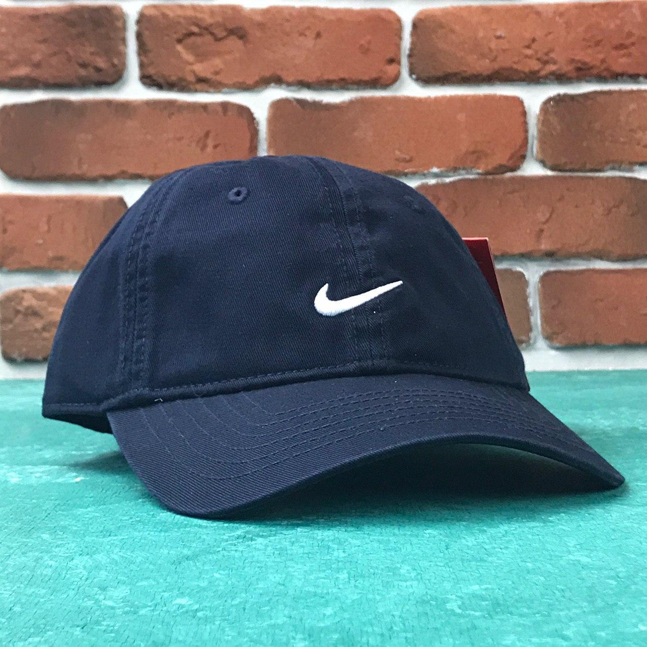Кепка Бейсболка Мужская Женская Nike Найк Темно-синяя с белым лого