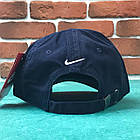 Кепка Бейсболка Мужская Женская Nike Найк Темно-синяя с белым лого, фото 3