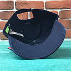 Кепка Бейсболка Мужская Женская Nike Найк Темно-синяя с белым лого, фото 4
