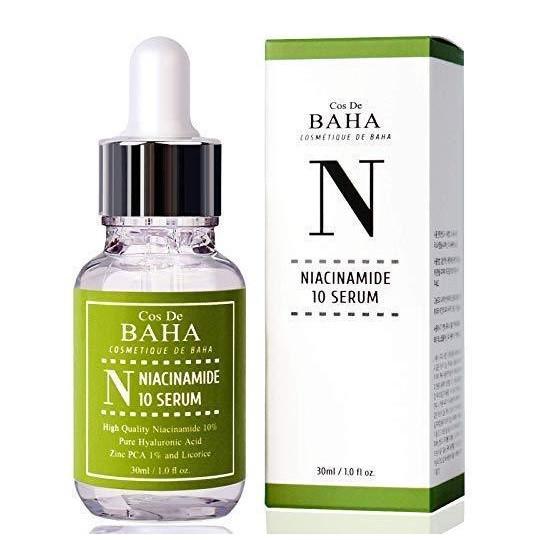 Противовоспалительная сыворотка для жирной кожи Cos De BAHA Niacinamide 10 Serum 30ml