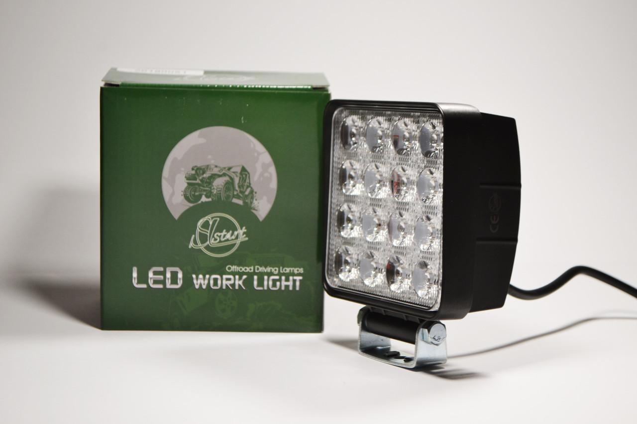 Светодиодная LED фара рабочая 48Вт,(3Вт*16ламп) Широкий луч (SLstart)