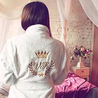 Махровый халат с именной вышивкой оригинальный подарок