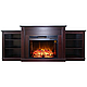 Современный каминокомплект ArtiFlame VOGUE TV STAND AF26 ВЕНГЕ режим 3D имитации пламени и обогрева, фото 2