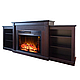 Современный каминокомплект ArtiFlame VOGUE TV STAND AF26 ВЕНГЕ режим 3D имитации пламени и обогрева, фото 3