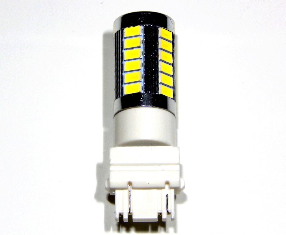 Лампа автомобільна світлодіодна ZIRY T25 - P27/7W (3157), біла