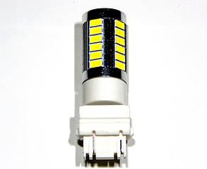 Лампа автомобильная светодиодная ZIRY T25 - P27/7W (3157), белая