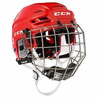 Шлем CCM TACKS 710 с решеткой, Размер L, красный, T710C-R-L