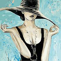 Картина по номерам ArtStory Модная шляпа  40*40см