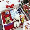 Подарочный набор женский Новогодний трусики 3шт Снежинки+носки, фото 2