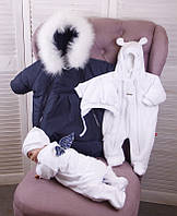 Зимний комплект одежды для новорожденных детей Norway