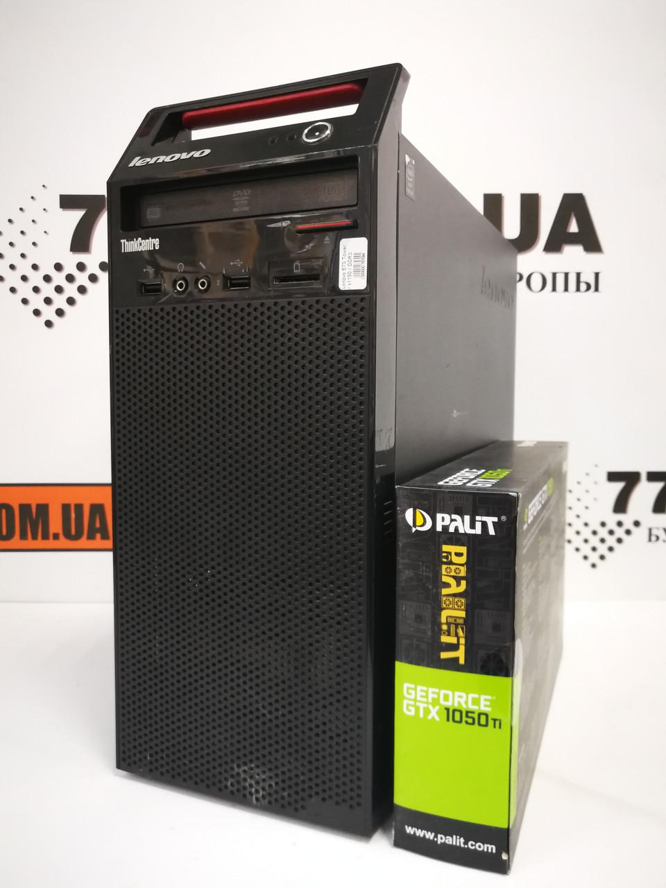 Компьютер Lenovo (Tower), Intel Core i5-4570 3.6GHz, RAM 8ГБ, SSD 120GB + HDD 500ГБ, GeForce GTX 1050Ti 4ГБ