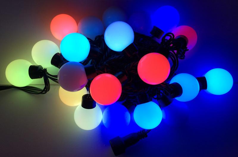 Гирлянда Шарики Нить 20 LED Лампочек Мульти от Сети