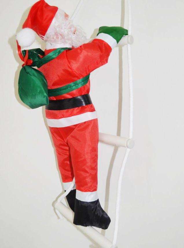 Дед Мороз Санта Клаус на Лестнице Подвесной Атмосфера Нового Года 120 см top