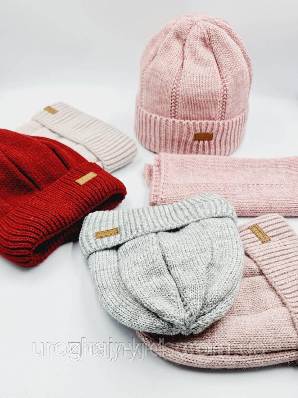 Набір шапка+хомут 52-54р підкладка фліс