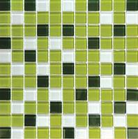Мозаика стеклянная зеленая Mix C012