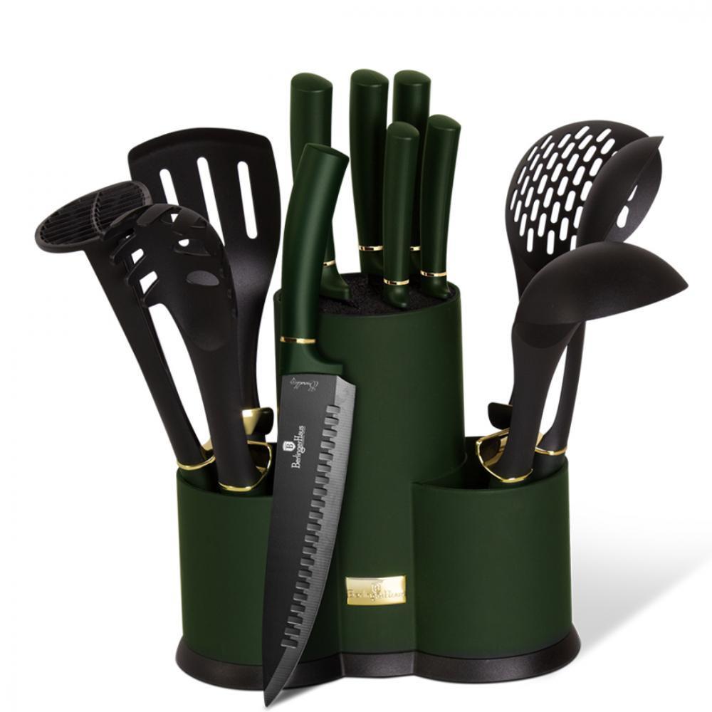 Набор кухонных принадлежностей и ножей в подставке Berlinger Haus 12пр