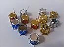 Елочные Новогодние Игрушки Барабаны 2,5 см Украшение на Елку Набор 12 шт top, фото 3