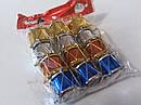 Елочные Новогодние Игрушки Барабаны 2,5 см Украшение на Елку Набор 12 шт top, фото 4