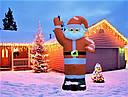 Дед Мороз Надувной Санта Клаус 240 см top, фото 2