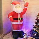 Дед Мороз Надувной Санта Клаус 240 см top, фото 6