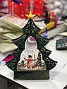 Елка со Снегом Музыкальная Игрушка с Подсветкой Новогодняя Настольная top, фото 2