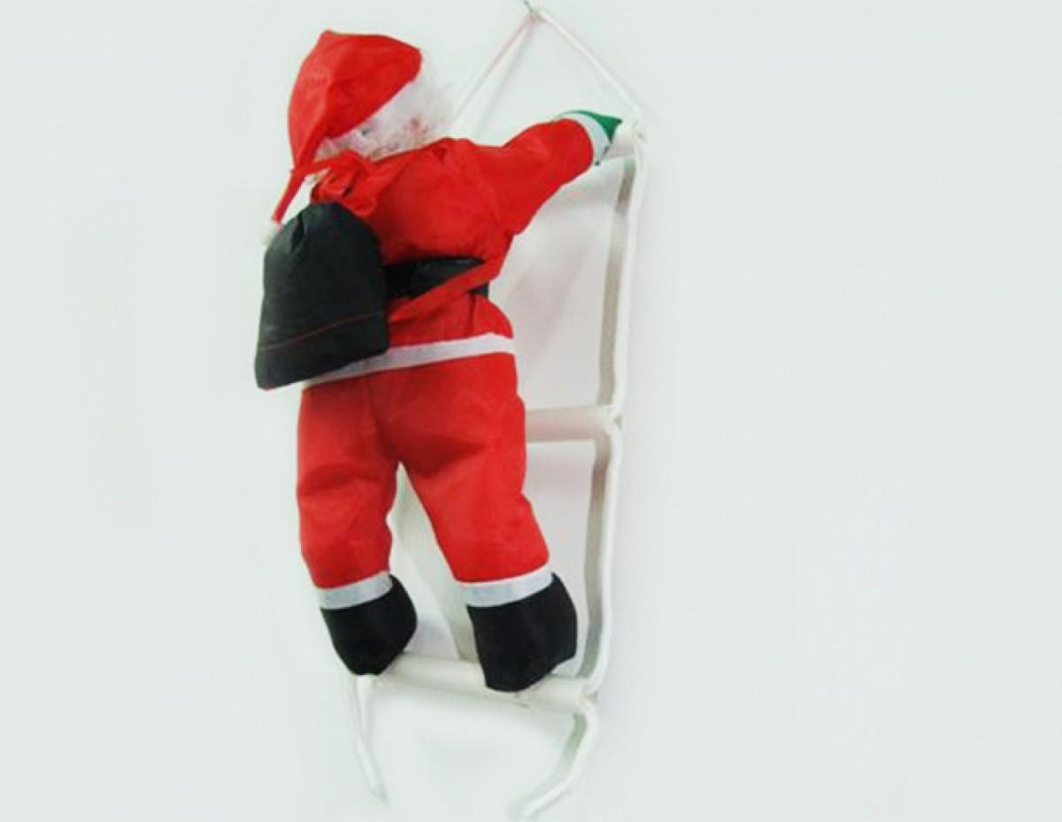 Дед Мороз Санта Клаус на Лестнице Подвесной Атмосфера Нового Года 50 см top