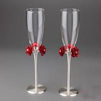 """Свадебные бокалы """"Красные розы""""  очень эффектные!"""