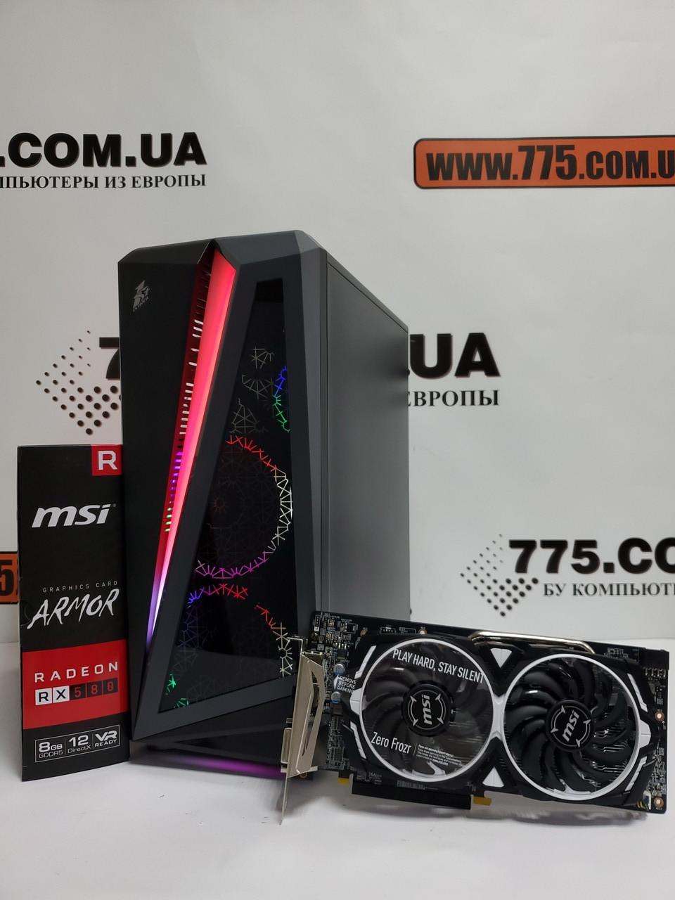 Игровой компьютер, AMD Ryzen 7 2700x 4.30GHz (16 потоков), 16ГБ DDR4, SSD 240ГБ, RX 580 8ГБ, Новый ПК