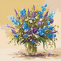 Картина по номерам ArtStory Букет полевых цветов  40*40см