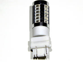 Лампа автомобильная светодиодная ZIRY T25 - P27/7W (3157), красная