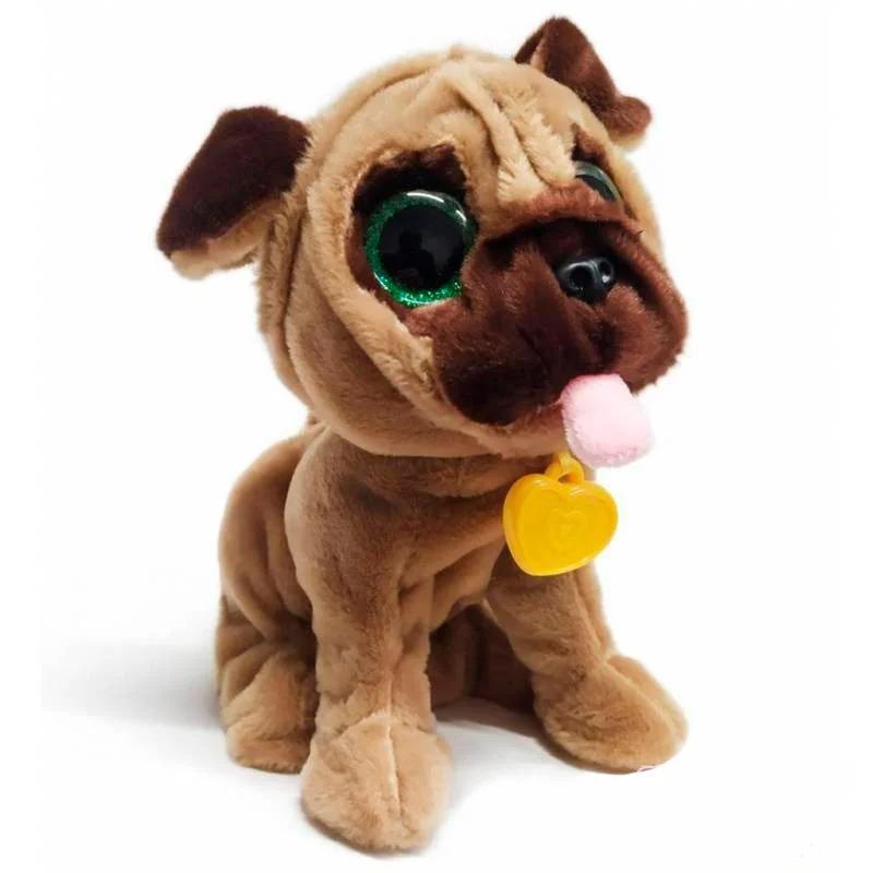 Интерактивная собака Мопс 12 команд, поет песню, разговаривает